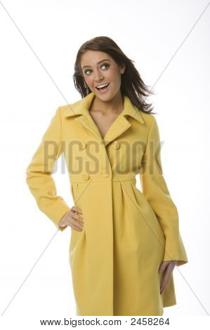 Woman In Yellow Coat
