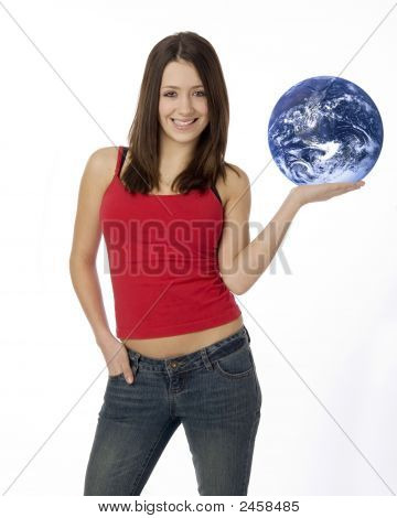World In The Palm Of Her Hand