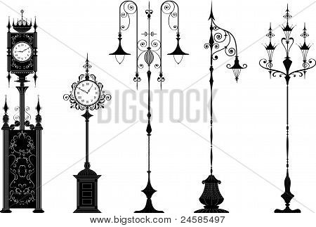 Lanterns And Clocks.