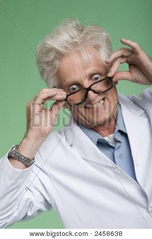 Bug eyed professor