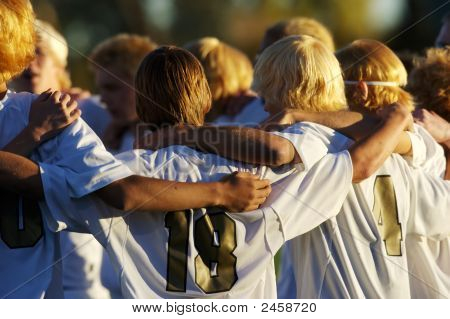 Voetbal Team Huddle
