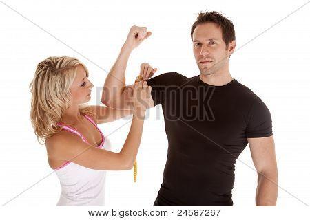 Girl Measure Arm