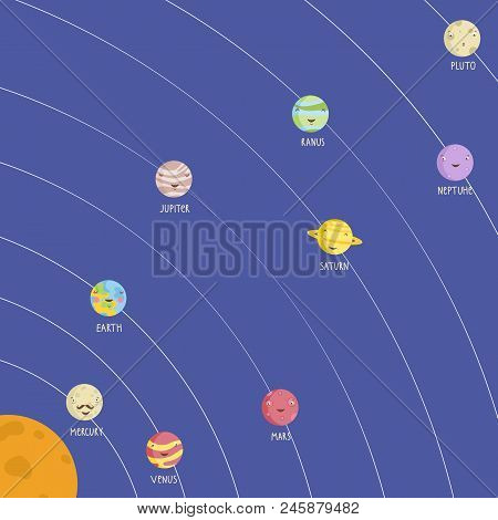 Solar System Model With Smiling