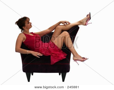 Woman In A Purple Chair 2
