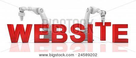 Industrial Robotic Arms Building Website Word