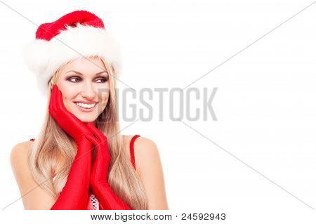Woman Dressed As Santa