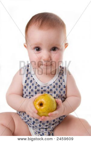 Boy And Pear