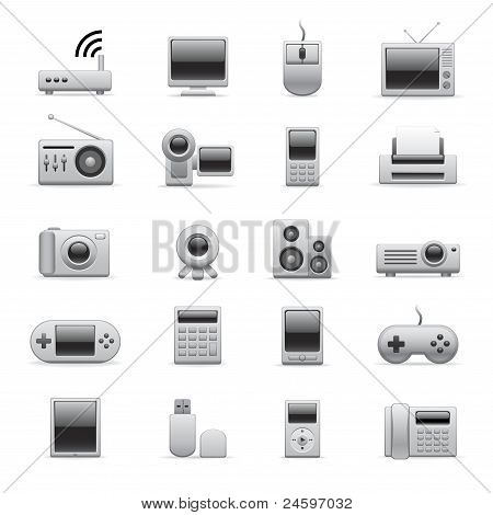 Silver Electronic Icons
