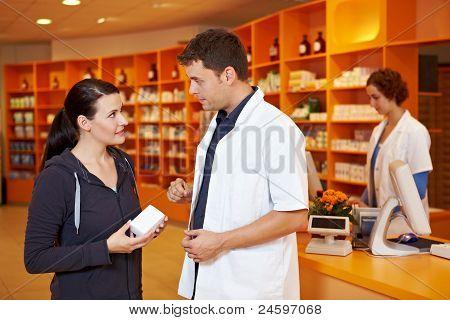 Pharmacist Selling To Customer