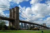 pic of brooklyn bridge  - The famous Brooklyn Bridge in New York City