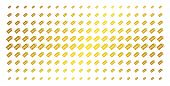 Free Tag Icon Golden Halftone Pattern. Vector Free Tag Shapes Are Organized Into Halftone Matrix Wit poster