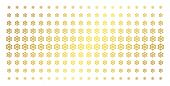 Boat Steering Wheel Icon Gold Halftone Pattern. Vector Boat Steering Wheel Items Are Organized Into  poster