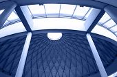 Architectural Geometry In Blue poster
