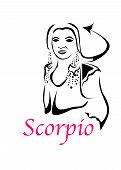 The Illustration With The Sign Of Zodiac - The Scorpio. poster