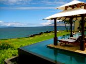 pic of cabana  - Infinity Pool on the beach of the JW Marriott in Wailea - JPG