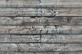 Background Of Old Wooden Planks. Wood Plank Brown Texture Background. poster