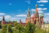 St Basils Cathedral And Moscow Kremlin, Russia poster