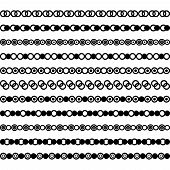 Collection Of Vector Dividers. Can Be Used For Design, Letters, Jewelry, Gifts, Notebooks. Vector Il poster