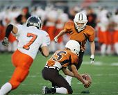 picture of football field  - High school field goal attempt during a league game - JPG