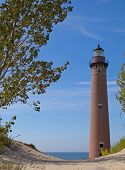 image of mear  - Little Sable Point Lighthouse was built in 1874 - JPG