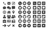 Contact Icons And Web Buttons Vector Set For Or Mobile Phone And Computer Ui User Interface poster