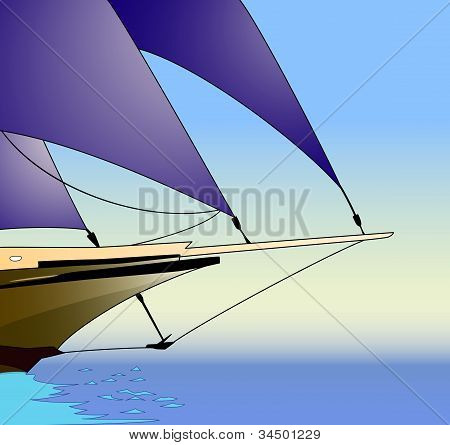 Sailboat, vector illustration