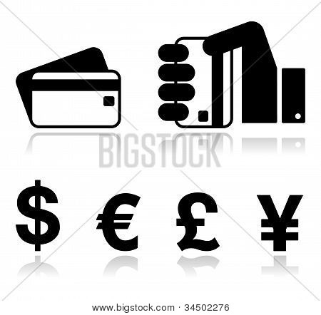 Payment methods icons set