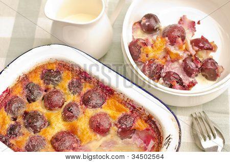 baked cherry clafouti