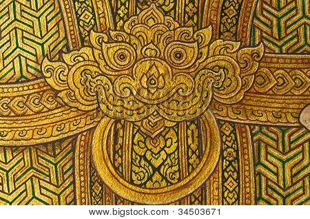 Ramayana mural.