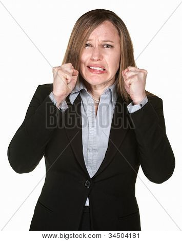 Woman With Clenched Fists