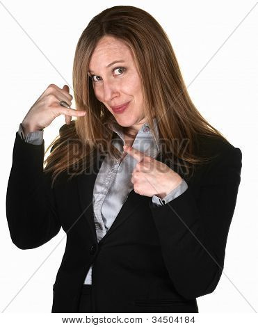 Professional Woman With Phone Gesture