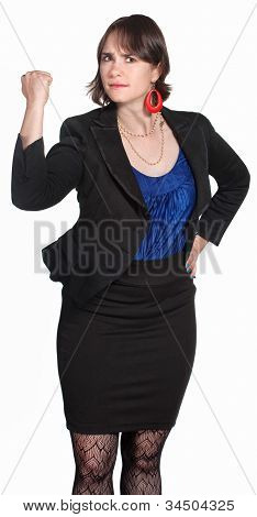 Lady Shakes Her Fist