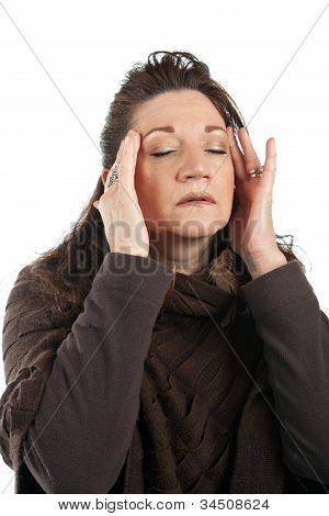 Woman With Stress Headache