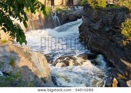 Fast Flowing Water In Rapids