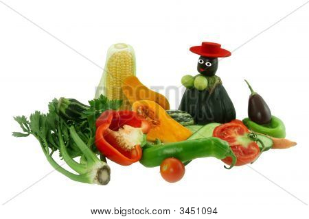 Vegetables And Figure