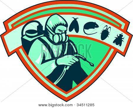 Pest Control Exterminator Worker Shield