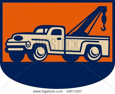 Vintage Tow Wrecker Pick-up Truck