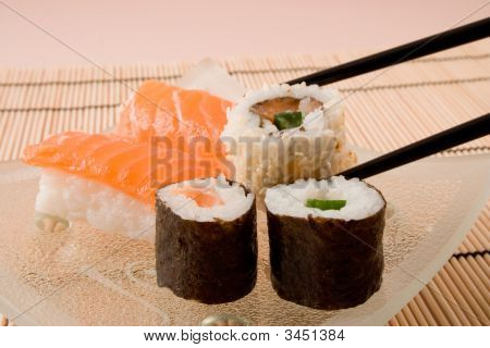 Assortement Of Japanese Sushi