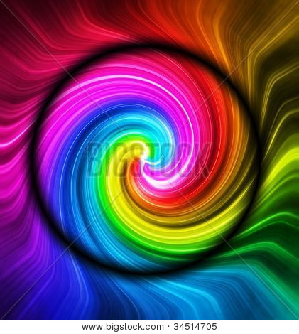 Swirling vortex of colors