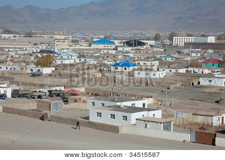 Top View Of The Ordinary Mongolian City