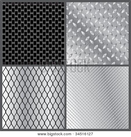 Texturas de metales gris