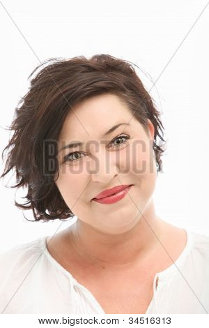 Attractive Woman With Amused Eyes
