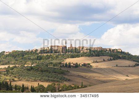 Landschaft von Pienza, Toskana