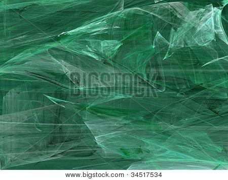 Grunge Random Fractal Pattern in Greens