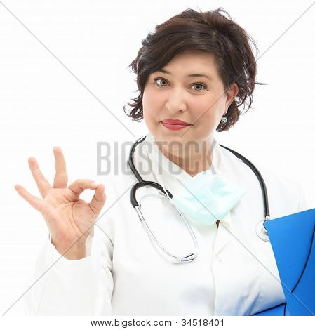 Doctor Indicating That It Is Correct