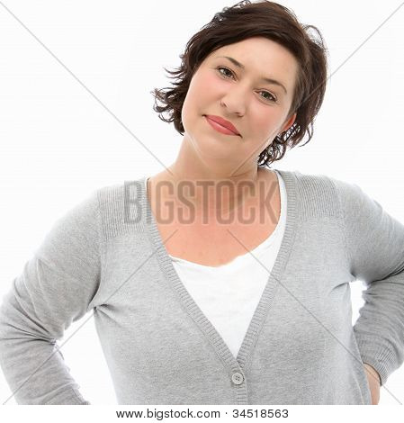 Self-assured Middle-aged Woman