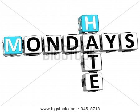 3D Hate Mondays Crossword
