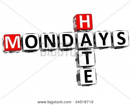 3D Hate Mondays Crossword