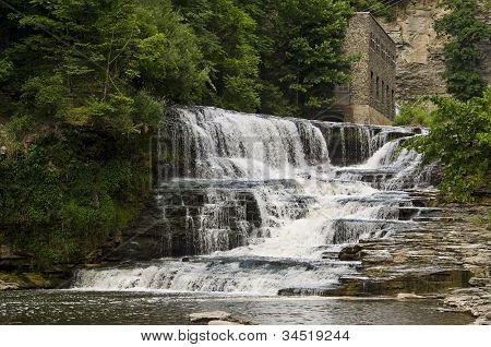 Ithaca, New York waterfall
