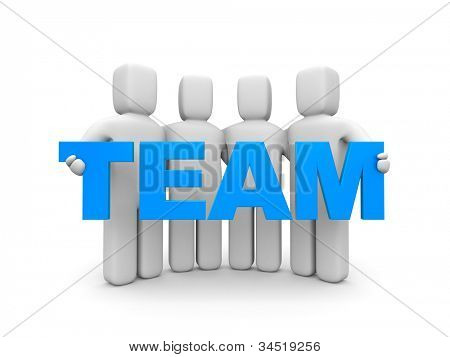 Team. Image contain clipping path